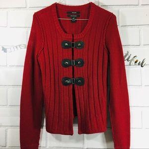 Tahari Sweater Jacket with Snaps Small